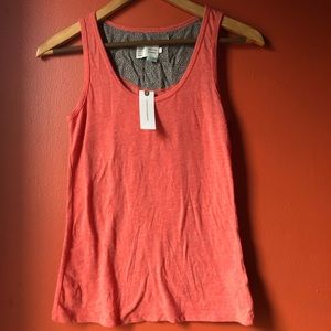 NWT Anthropologie Saturday Sunday Coral Tank Top